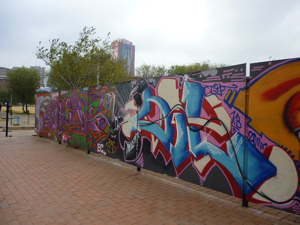 Street art is big in South Africa