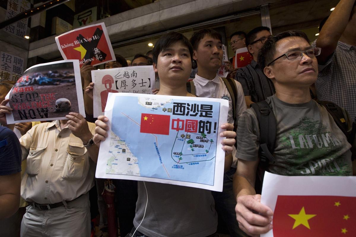 anti-vietnam protest hong kong