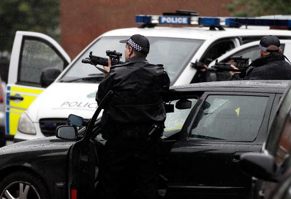 Liverpool Armed Siege Snipers Attend Stand Off At