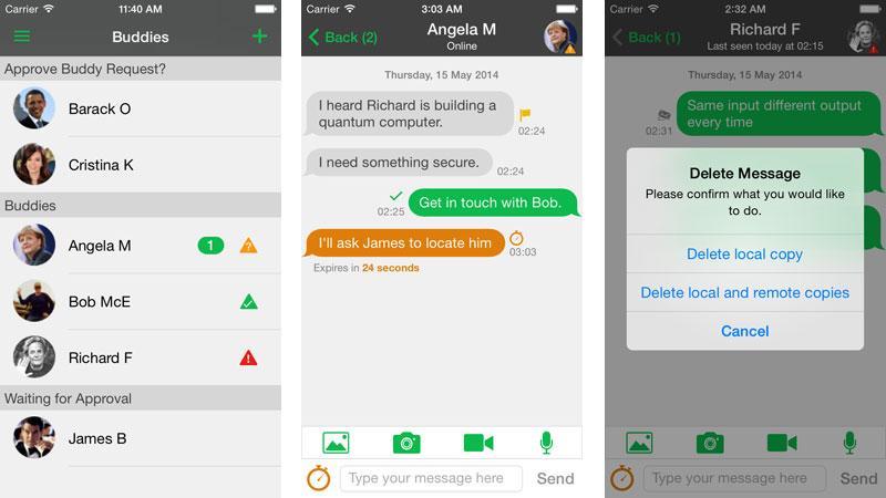 PQChat messaging app