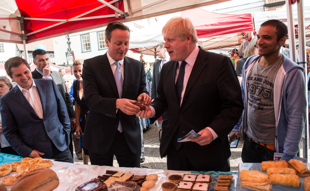 David Cameron and Boris Johnson campaigning