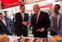 David Cameron and Boris Johnson campaigning