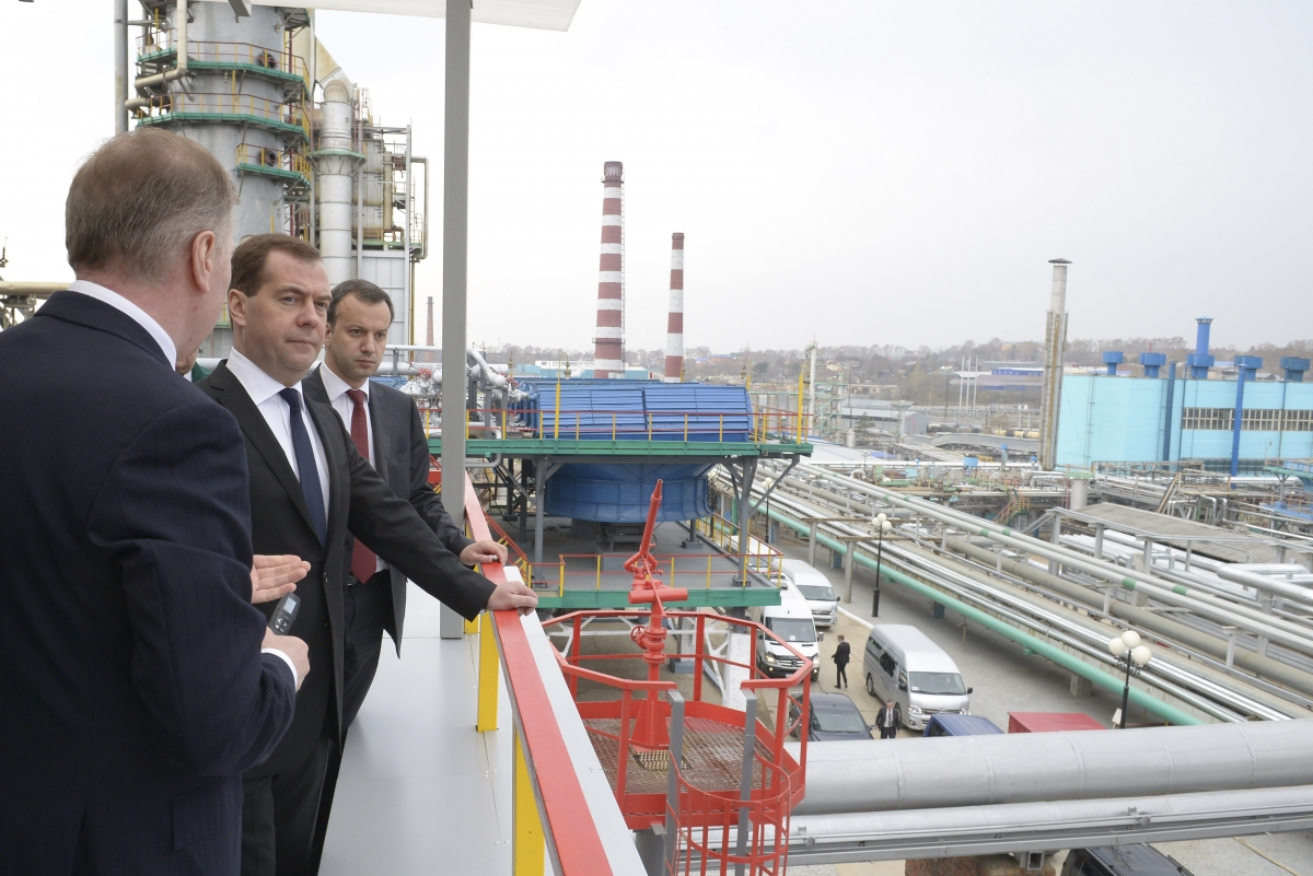 Dmitry Medvedev gas plant