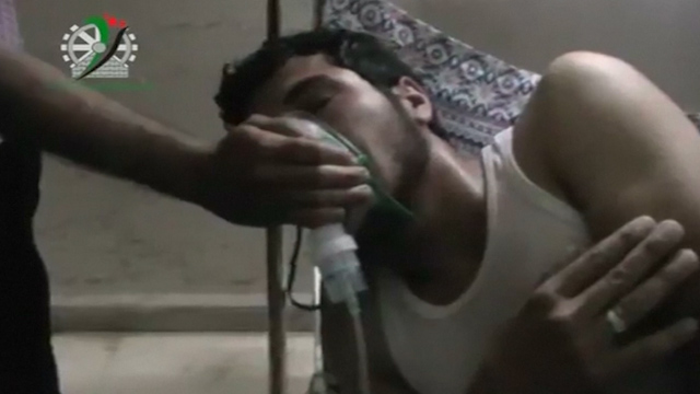 Chlorine Gas Attack in Syrian Village of Kfar Zeita