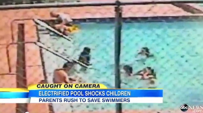 chilling footage revealed as three children get electric shocks in florida pool. Black Bedroom Furniture Sets. Home Design Ideas