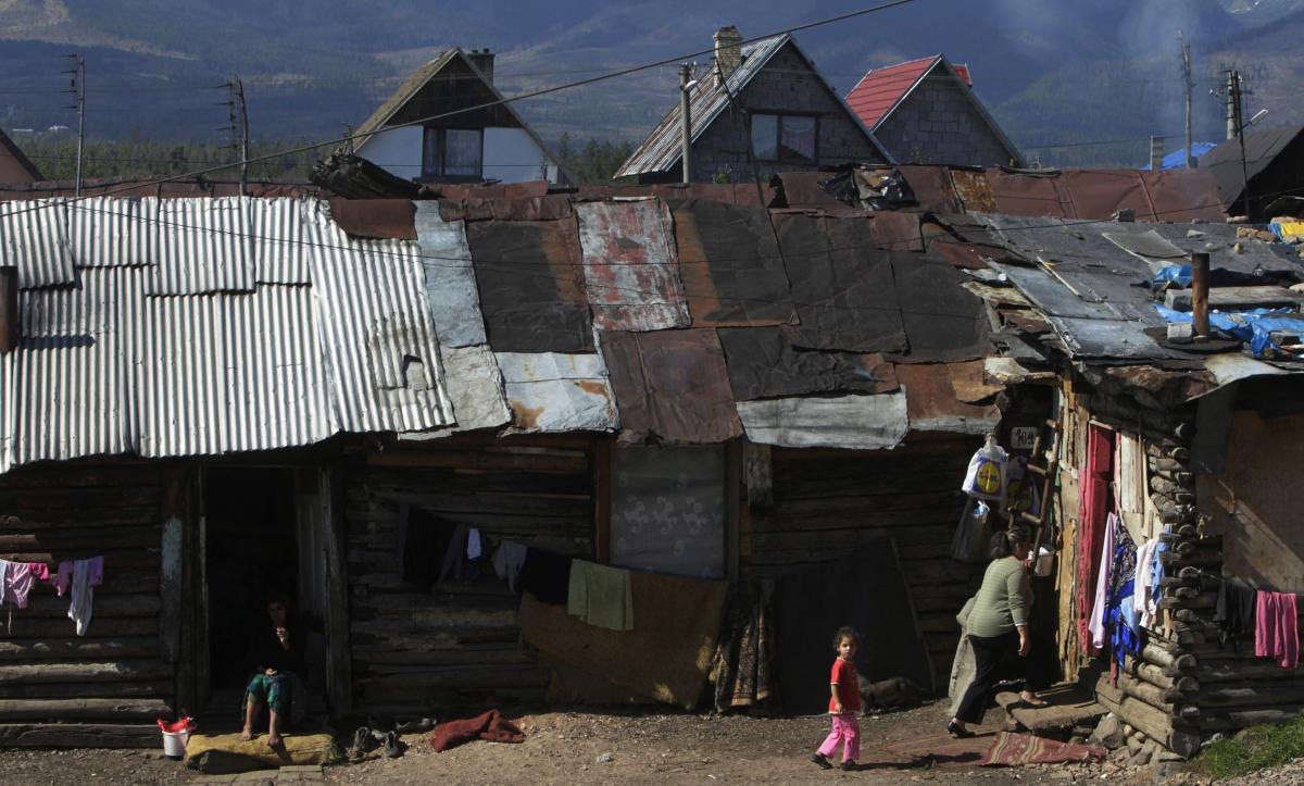A Slovakian Roma community. (Reuters)