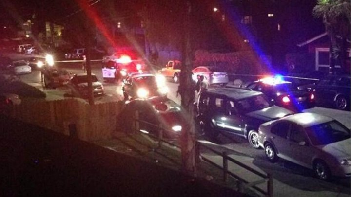 Police at scene of drive-by shooting