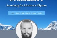 Social media campaign to find Matthew Allpress.