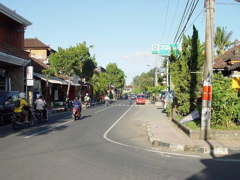 Street in Ubud, Bali (WikiCommons)
