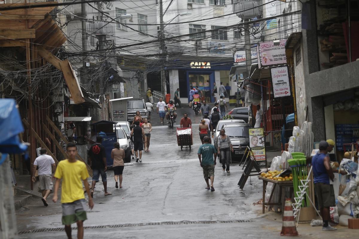 The Rocinha slum in Rio de janeiro (Reuters)