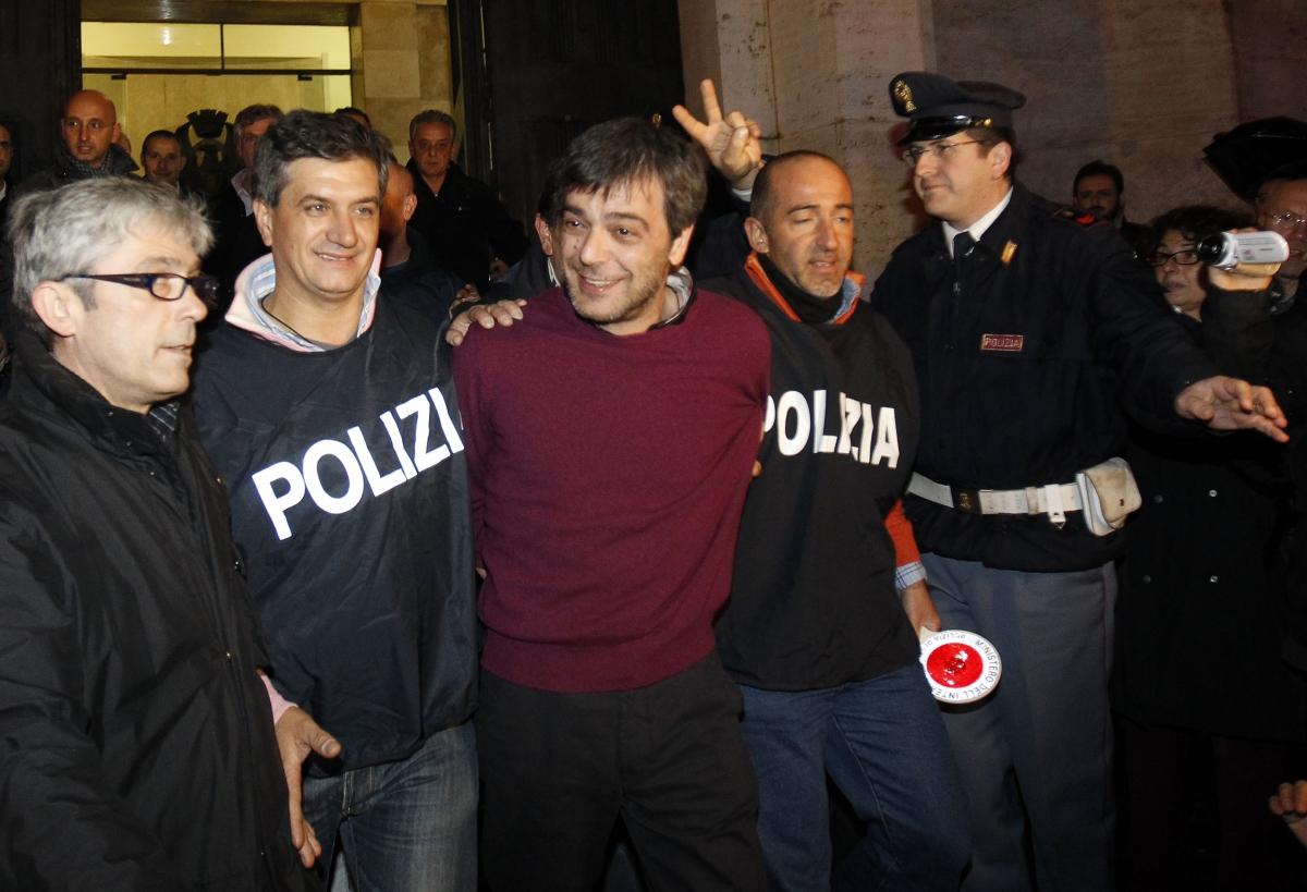 Antonio Iovine aftr his arrest in Naples in 2010.