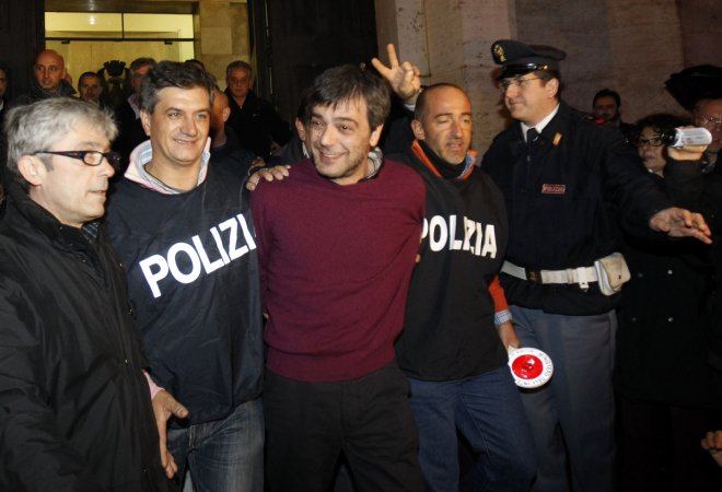 Antonio Iovine aftr his arrest in Naples in 2010.