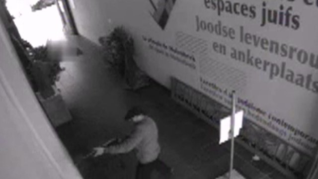 Still from the CCTV footage of the attack.