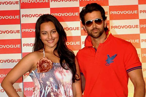 Hrithik Roshan and Sonakshi Sinha