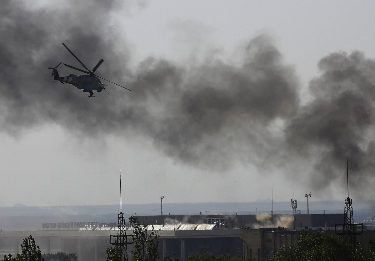 Donetsk airport military offensive