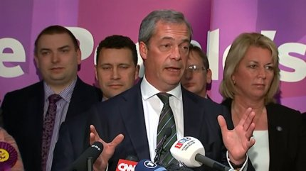 Nigel Farage Celebrates 'an Earthquake in British Politics'