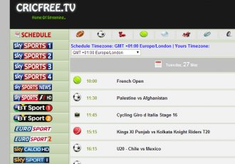 Popular sports streaming website Cricfree.tv is back online with a new domain