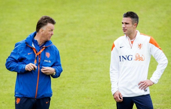 Robin van Perse and Louis van Gaal