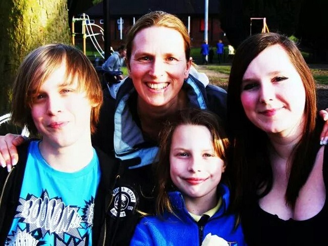 Louise Gibson with her children