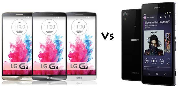 LG G3 versus Sony Xperia Z2