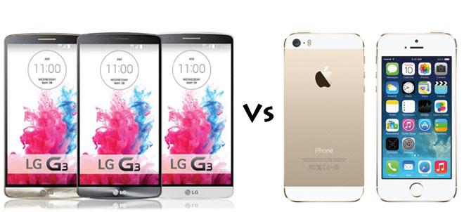 LG Gs versus iPhone 5s