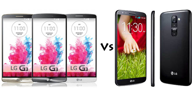 LG G3 vs LG G2 Comparison