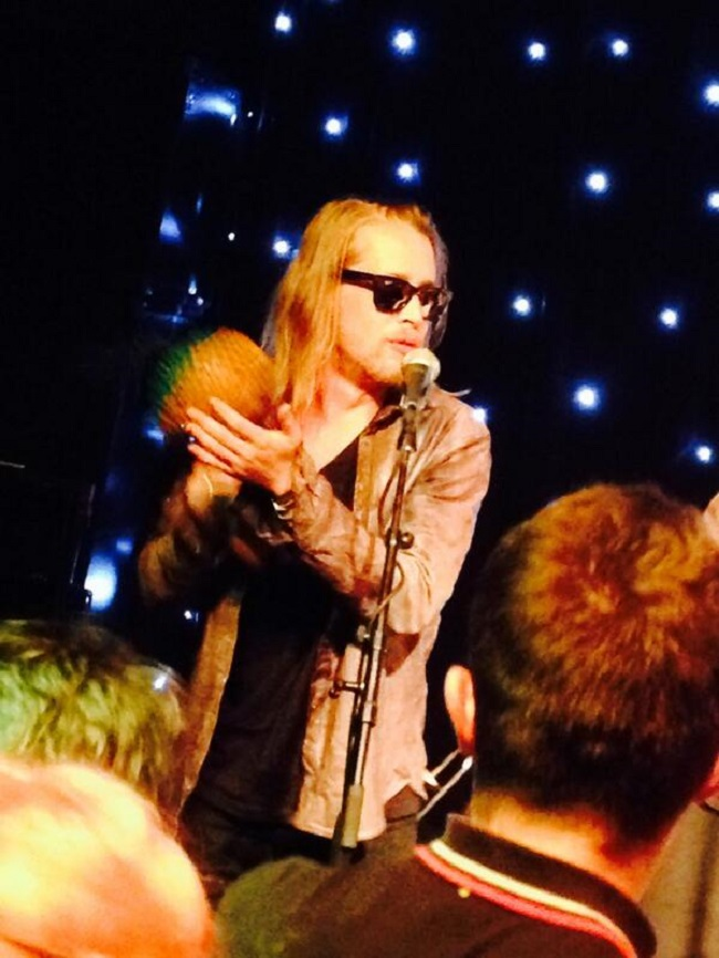 Macaulay Culkin performing at Zoo in Manchester