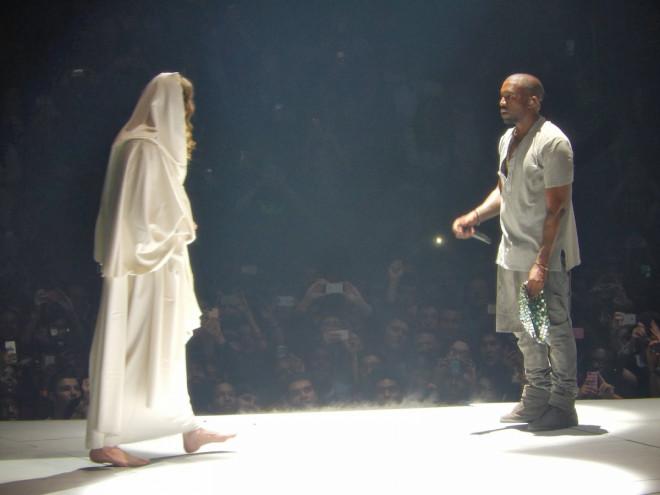 Kanye West performing Jesus Walks