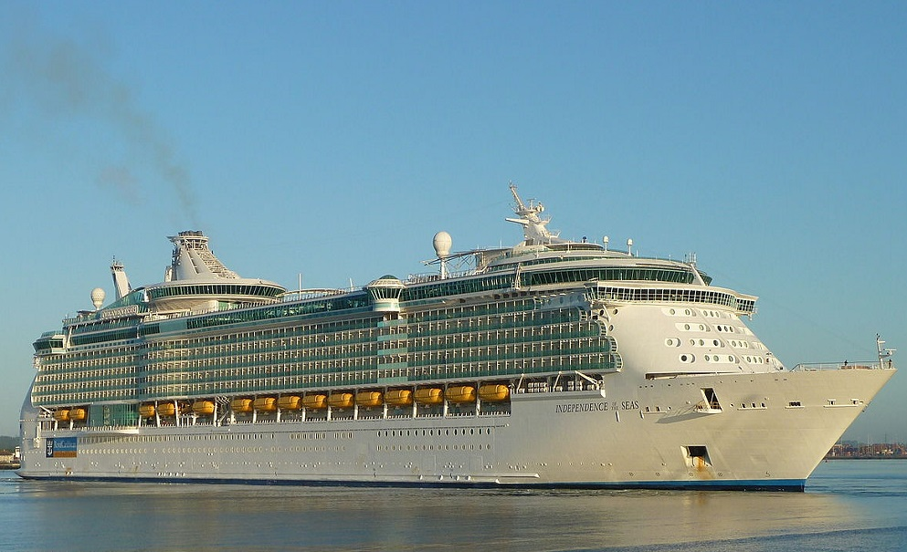 The boy was on board the gigantic Independence of the Seas when he nearly drowned