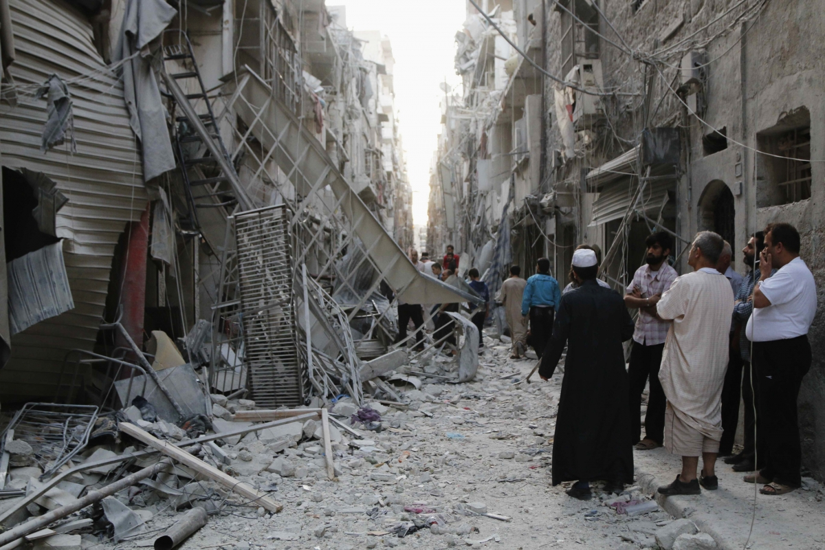 Aleppo barrel bomb