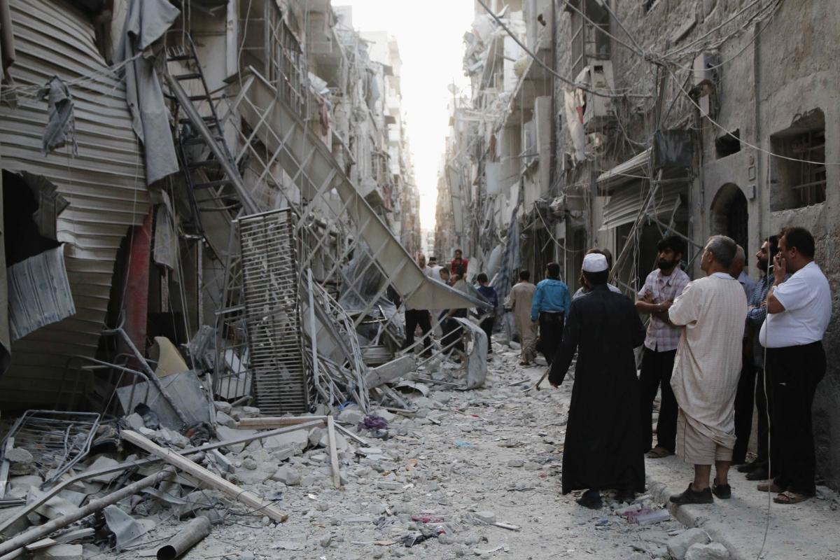 Aleppo barrel bomb