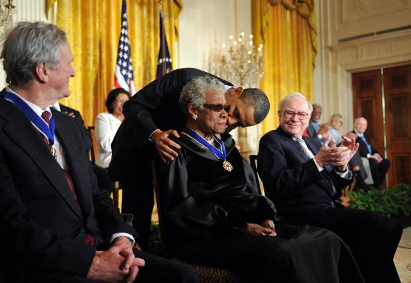 Maya Angelou And Barack Obama