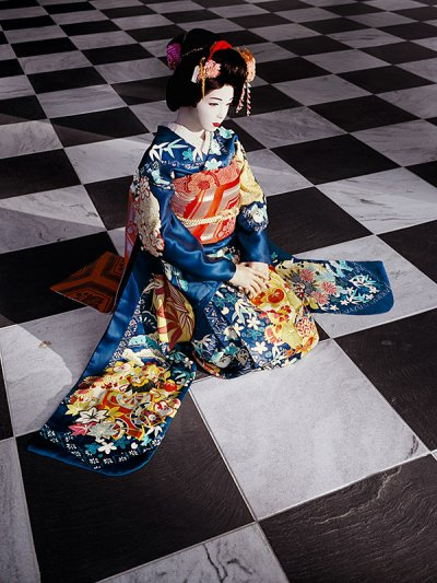 The Love Doll  Day 32 Blue Geisha, Black and White Room 2011