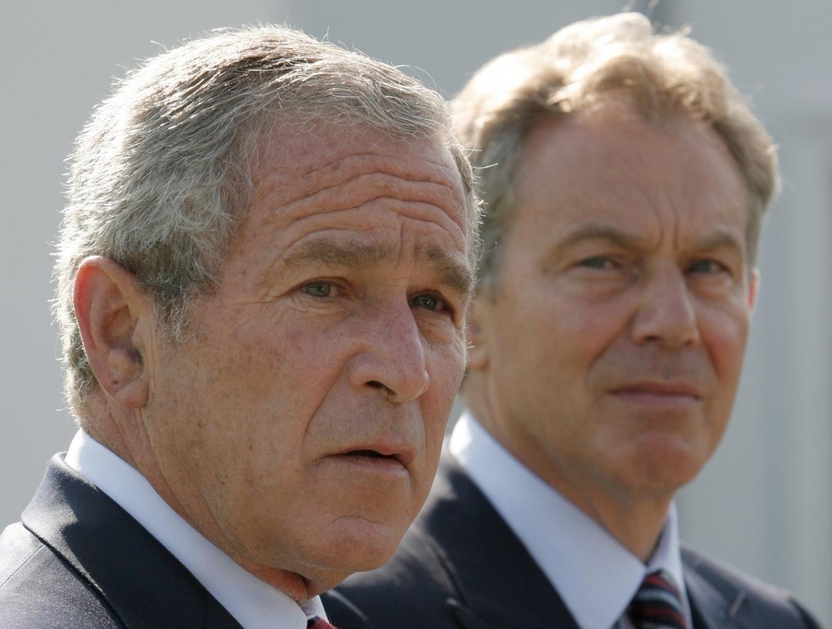 Iraq Blair Bush