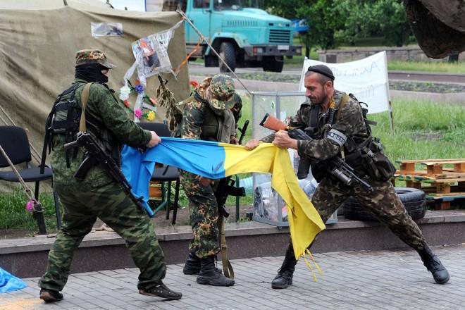 Pro-Russian militia eastern Ukraine flag