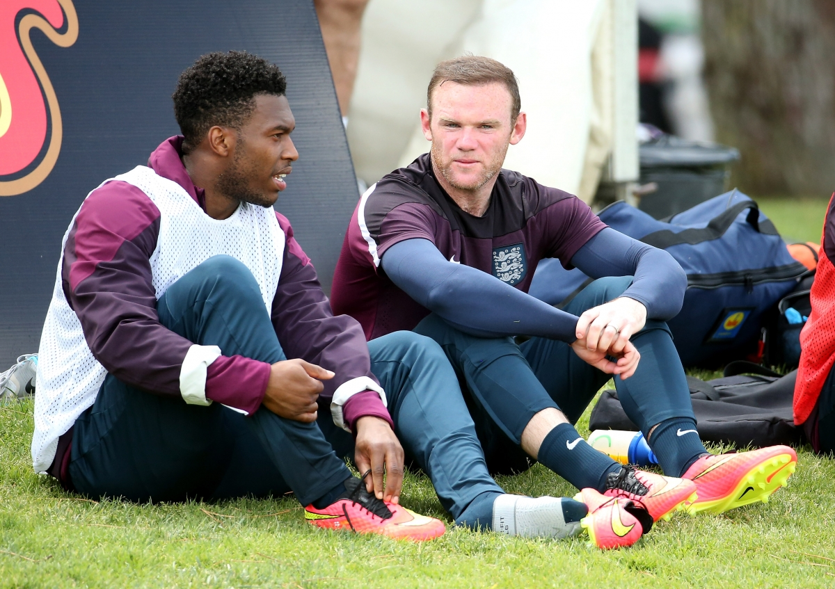 Daniel Sturridge and Wayne Rooney