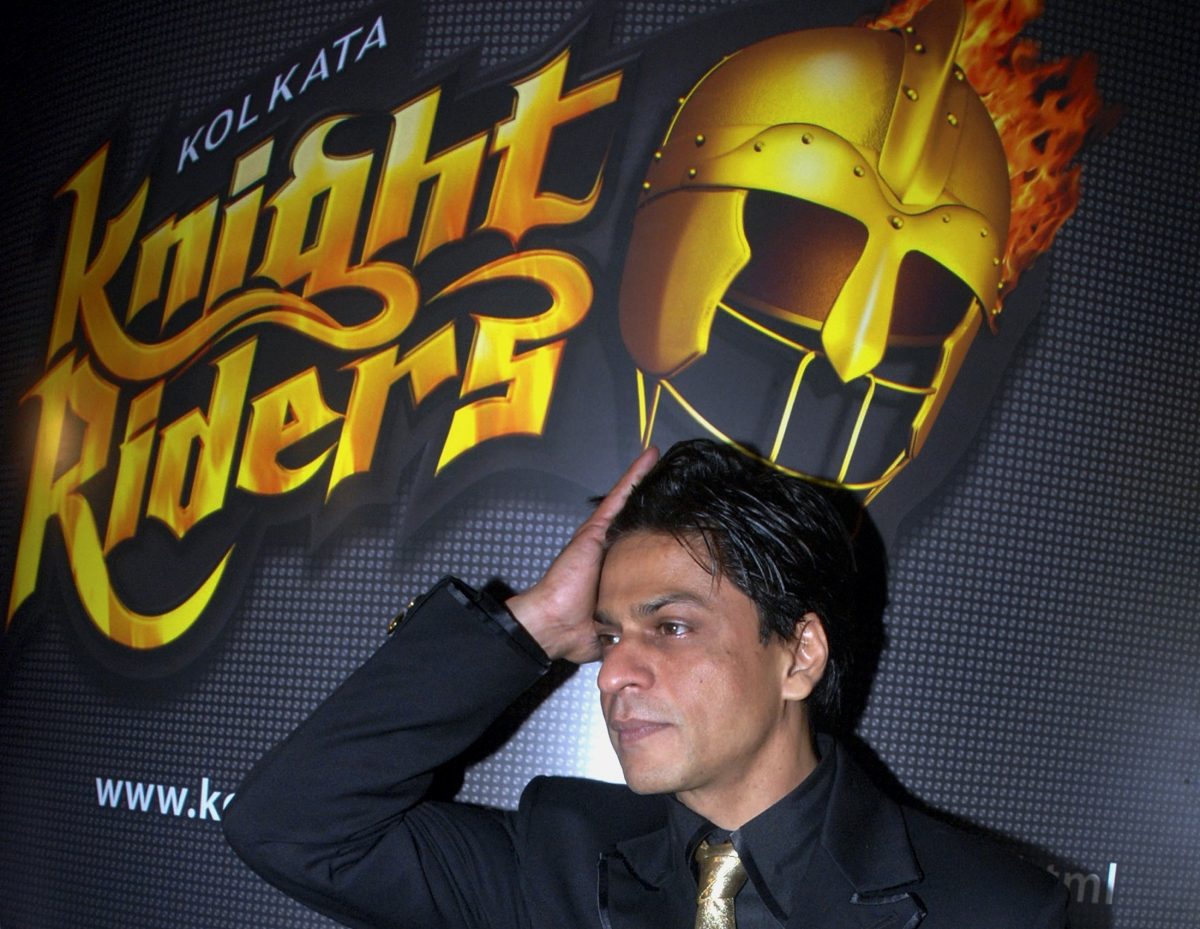 Bollywood star and joint owner of Kolkata Knight Riders cricket team, Shah Rukh Khan