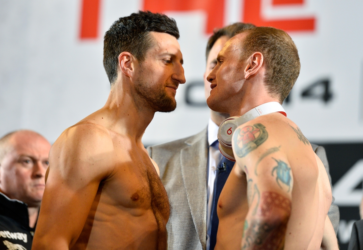 Carl Froch George Groves weigh in