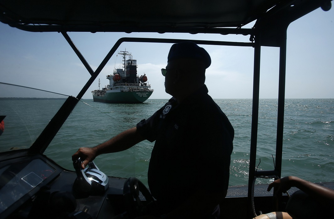 Maritime police off the coast of Malaysia