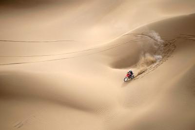 motorbike sand dune desert