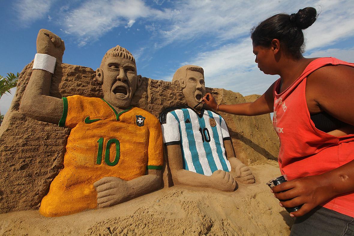 world cup sand sculpture