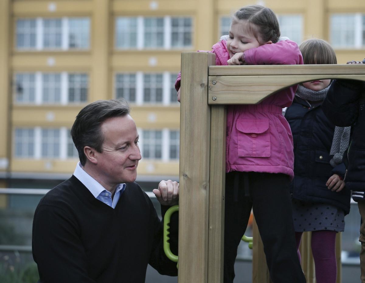 Child and David Cameron