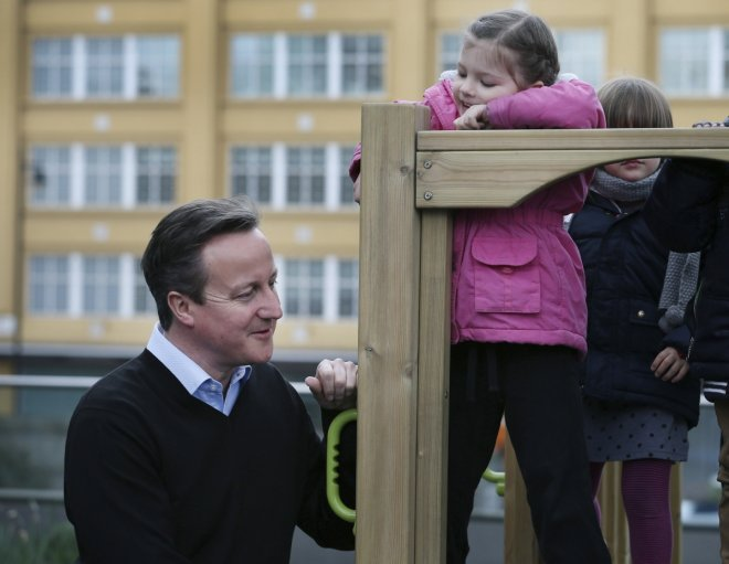 Child and David Cameron