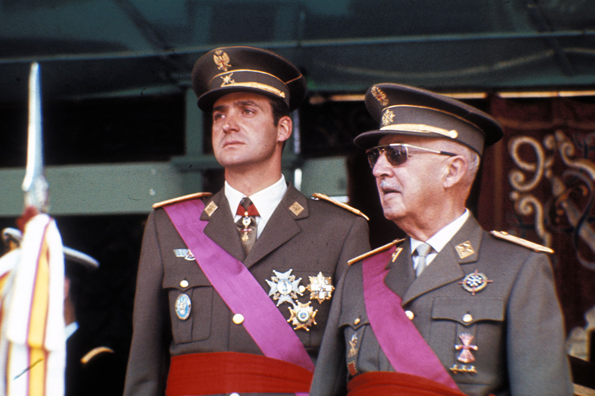 King Juan Carlos I of Spain franco