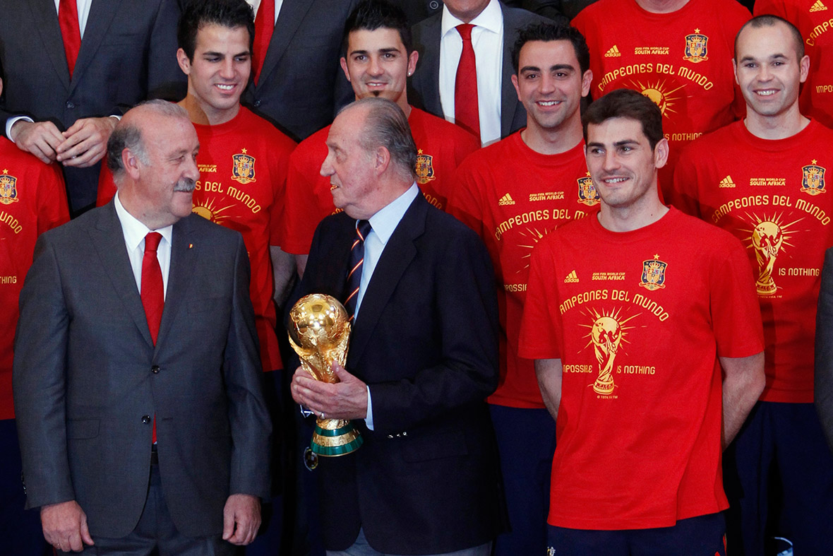 King Juan Carlos I of Spain world cup