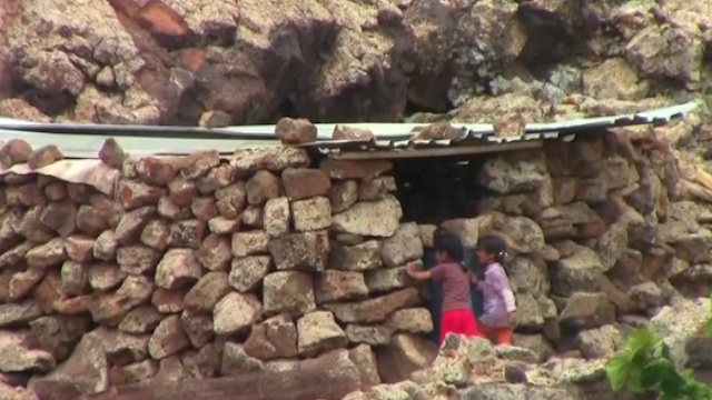 Displaced Syrians Forced to Take Shelter in Caves
