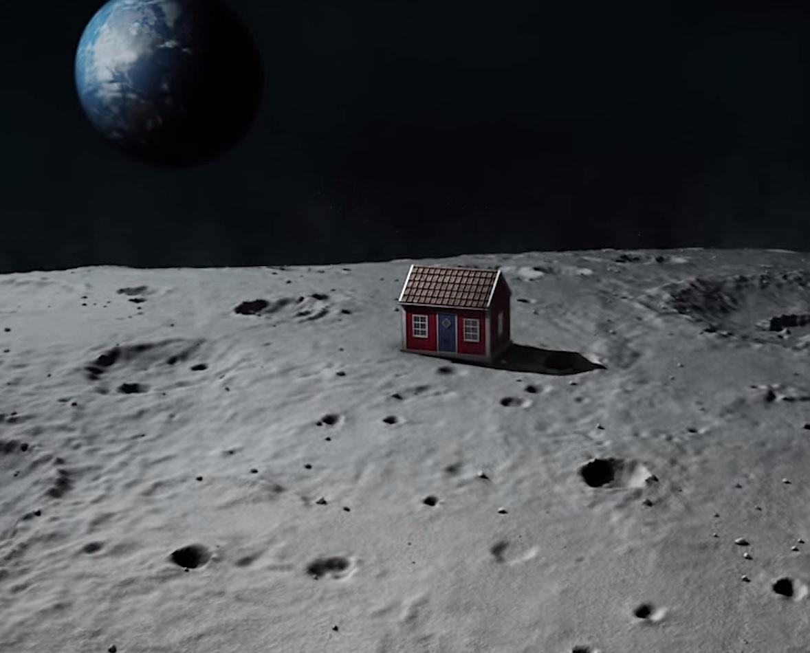 House on moon