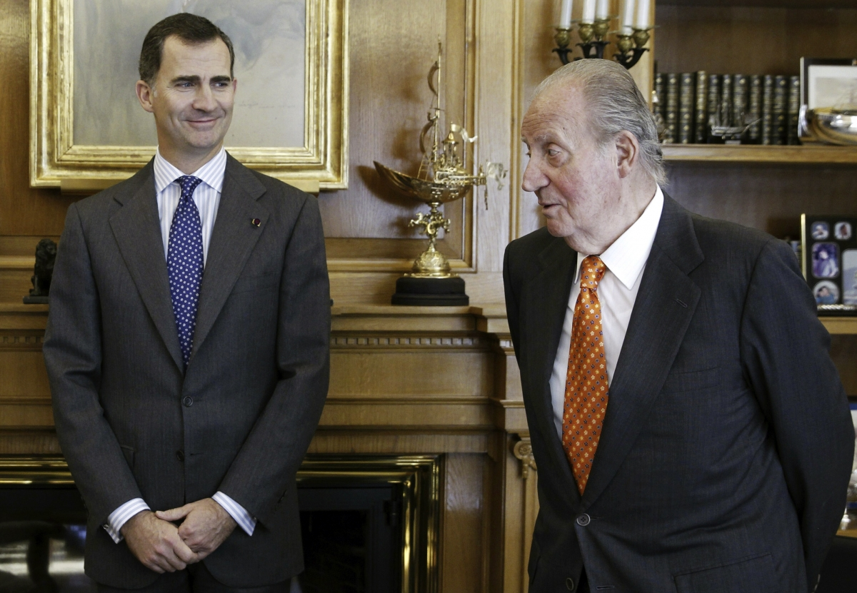 Spains King Juan Carlos abdicates Crown Prince Felipe
