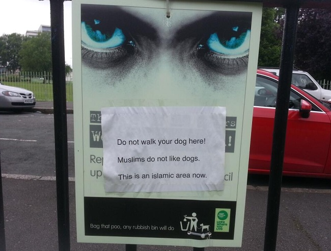 Offensive poster was put up outside Bartlett Park, Poplar