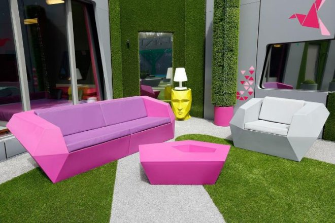Big Brother house 2014 smoking area